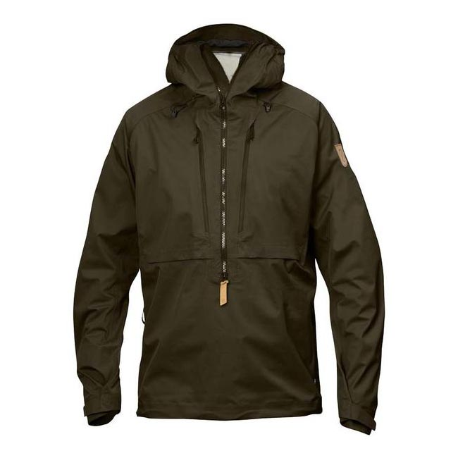 Men Fjallraven KEB ECO-SHELL ANORAK DARK OLIVE Outlet Online