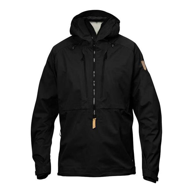 Men Fjallraven KEB ECO-SHELL ANORAK BLACK Outlet Online