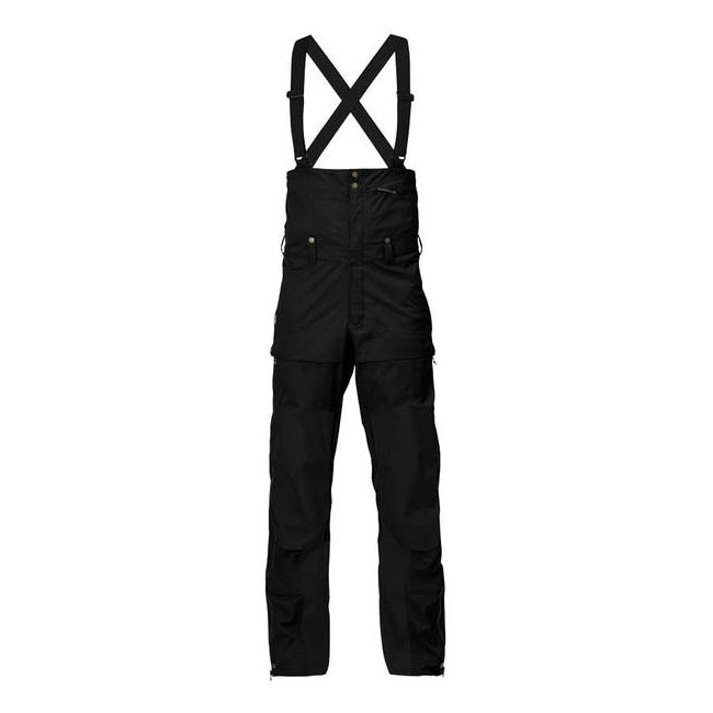 Men Fjallraven KEB ECO-SHELL BIB TROUSERS BLACK Outlet Online