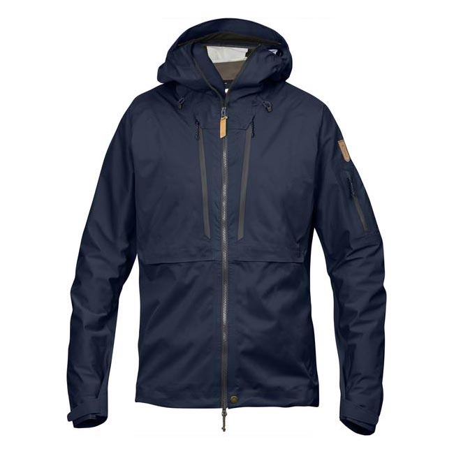 Men Fjallraven KEB ECO-SHELL JACKET DARK NAVY Outlet Online