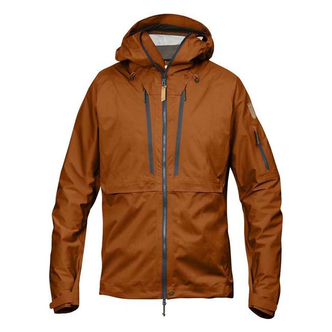 Men Fjallraven KEB ECO-SHELL JACKET AUTUMN LEAF Outlet Online