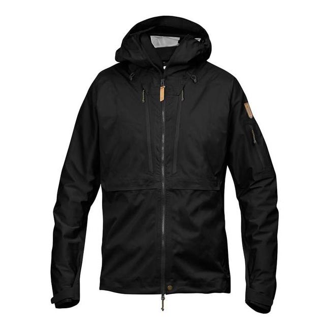 Men Fjallraven KEB ECO-SHELL JACKET BLACK Outlet Online
