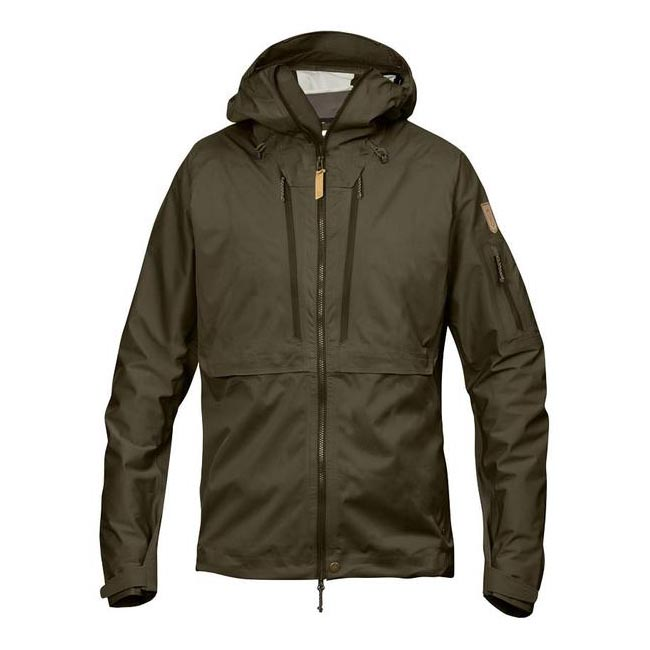 Men Fjallraven KEB ECO-SHELL JACKET DARK OLIVE Outlet Online