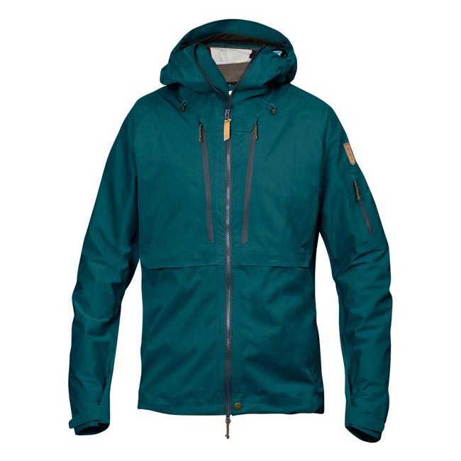 Men Fjallraven KEB ECO-SHELL JACKET GLACIER GREEN Outlet Online