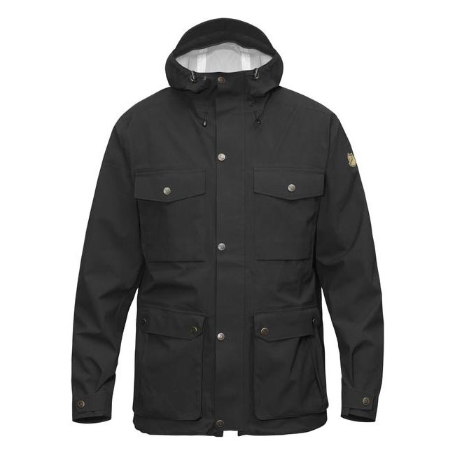 Men Fjallraven ÖVIK ECO-SHELL JACKET BLACK Outlet Online