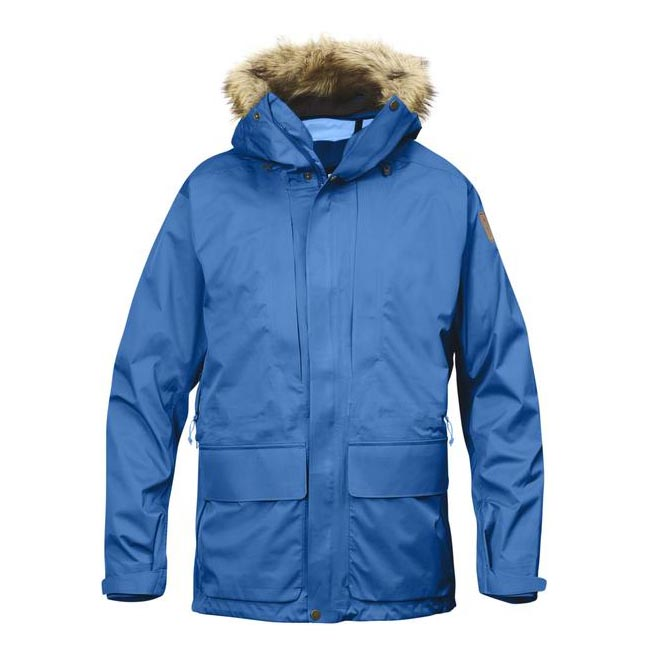 Men Fjallraven KEB ECO-SHELL PARKA UN BLUE Outlet Online
