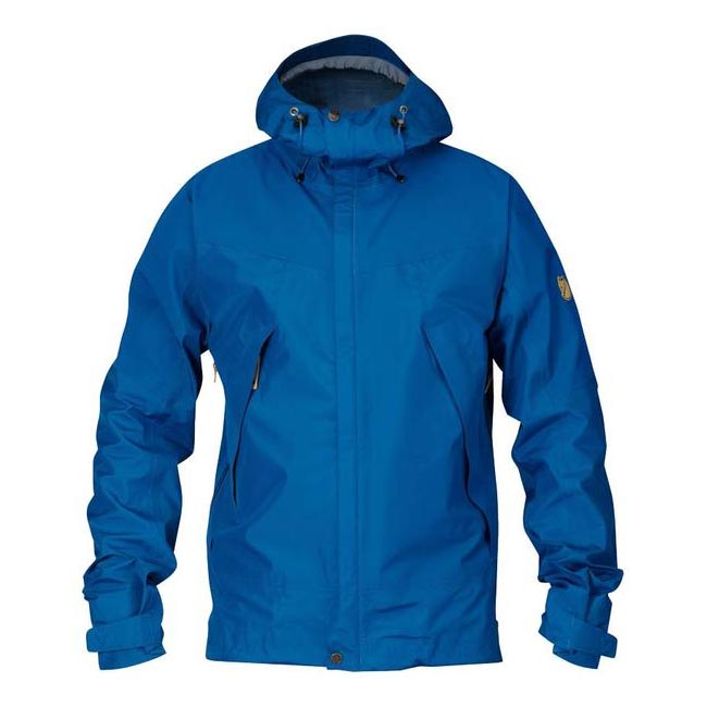 Men Fjallraven ECO-TRAIL JACKET BAY BLUE Outlet Online