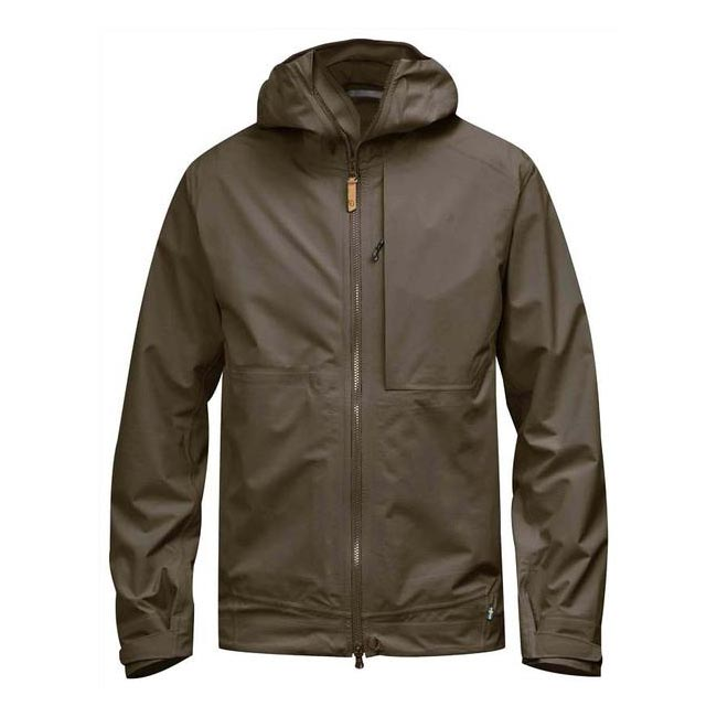 Men Fjallraven ABISKO ECO-SHELL JACKET TARMAC Outlet Online