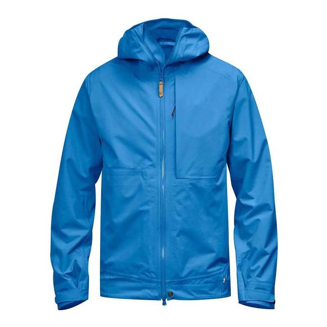 Men Fjallraven ABISKO ECO-SHELL JACKET UN BLUE Outlet Online