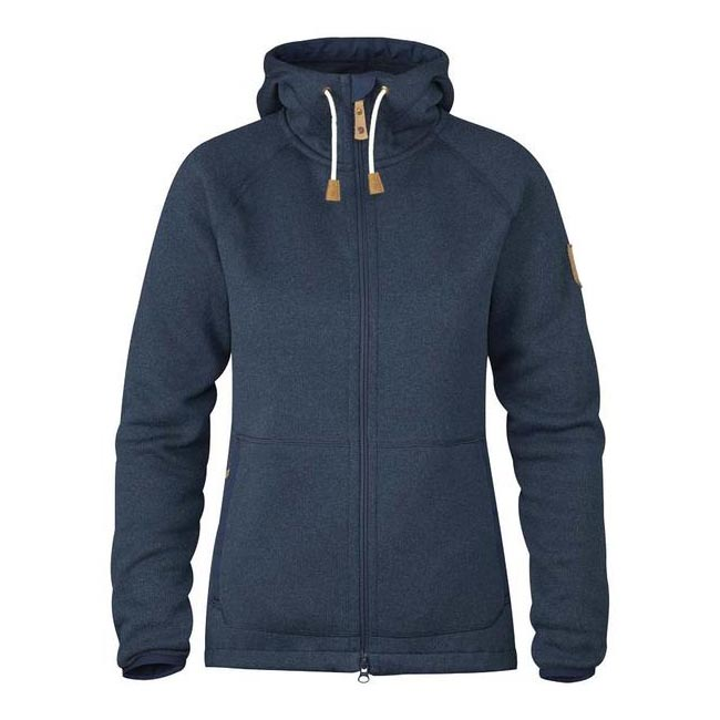Women Fjallraven OVIK FLEECE HOODIE W NAVY  Outlet Online