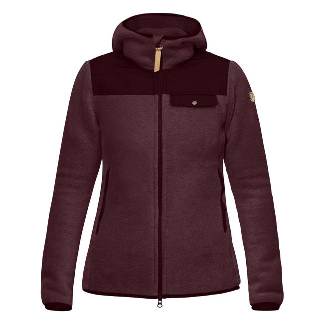 Women Fjallraven SINGI FLEECE HOODIE W DARK GARNET  Outlet Online