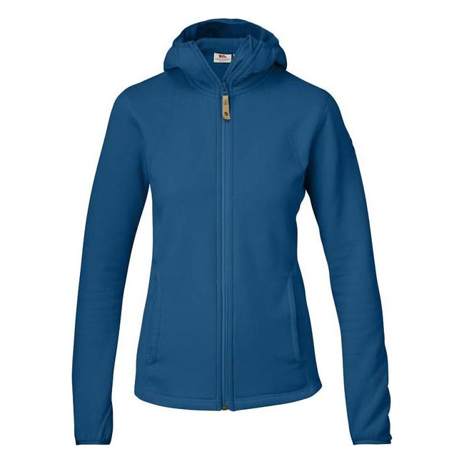 Women Fjallraven ABISKO FLEECE HOODIE W LAKE BLUE Outlet Online