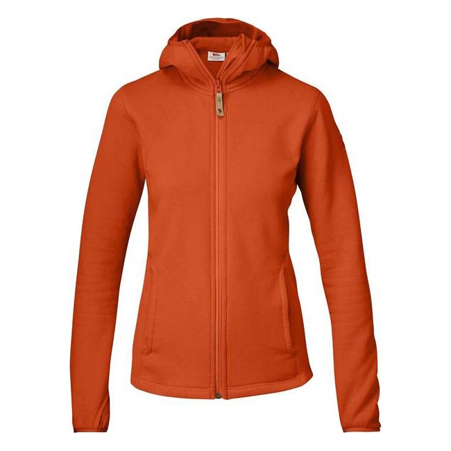 Women Fjallraven ABISKO FLEECE HOODIE W FLAME ORANGE  Outlet Online