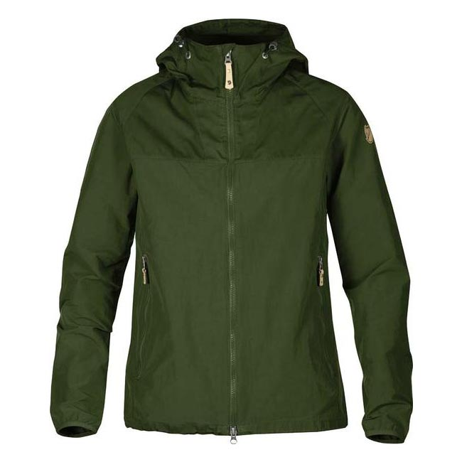 Women Fjallraven ABISKO HYBRID JACKET W PINE GREEN Outlet Online