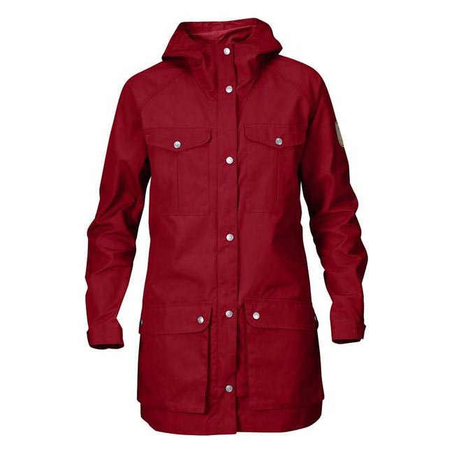 Women Fjallraven GREENLAND PARKA LIGHT W DEEP RED  Outlet Online