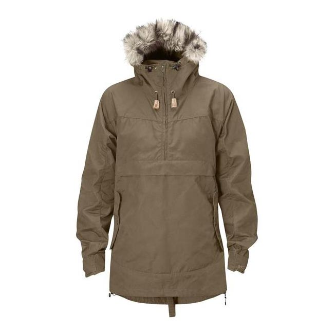 Women Fjallraven ICELAND WOMENS ANORAK TAUPE Outlet Online