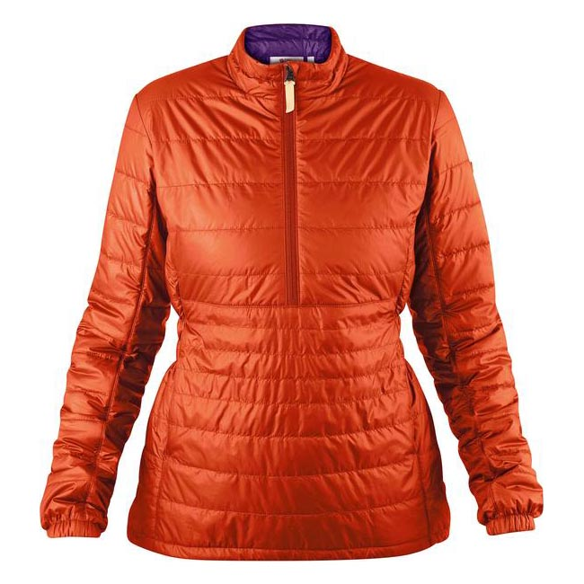 Women Fjallraven ABISKO PADDED PULLOVER W FLAME ORANGE  Outlet Online