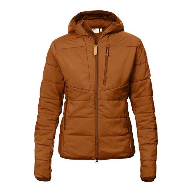 Women Fjallraven KEB PADDED HOODIE W AUTUMN LEAF Outlet Online