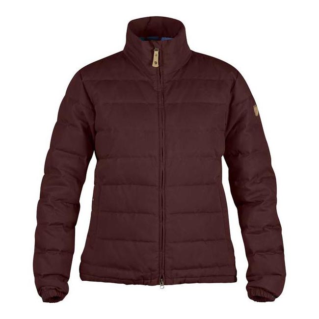Women Fjallraven ÖVIK LITE JACKET W BURNT RED Outlet Online