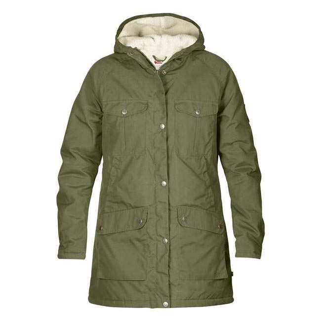 Women Fjallraven GREENLAND WINTER PARKA W GREEN  Outlet Online