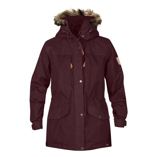 Women Fjallraven SINGI WINTER JACKET W DARK GARNET  Outlet Online