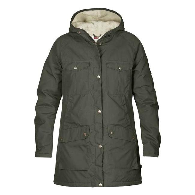 Women Fjallraven GREENLAND WINTER PARKA W MOUNTAIN GREY Outlet Online