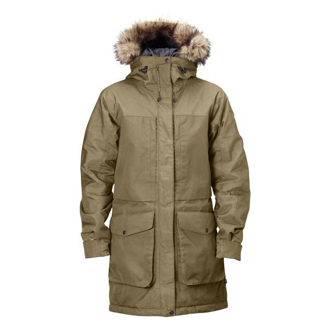 Women Fjallraven BARENTS PARKA W SAND Outlet Online
