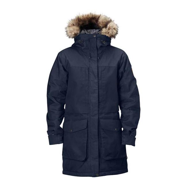 Women Fjallraven BARENTS PARKA W DARK NAVY Outlet Online