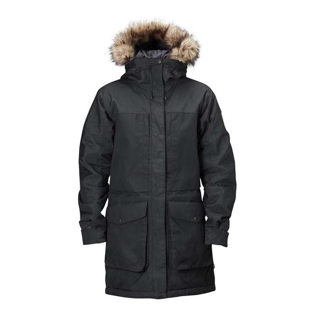 Women Fjallraven BARENTS PARKA W BLACK Outlet Online