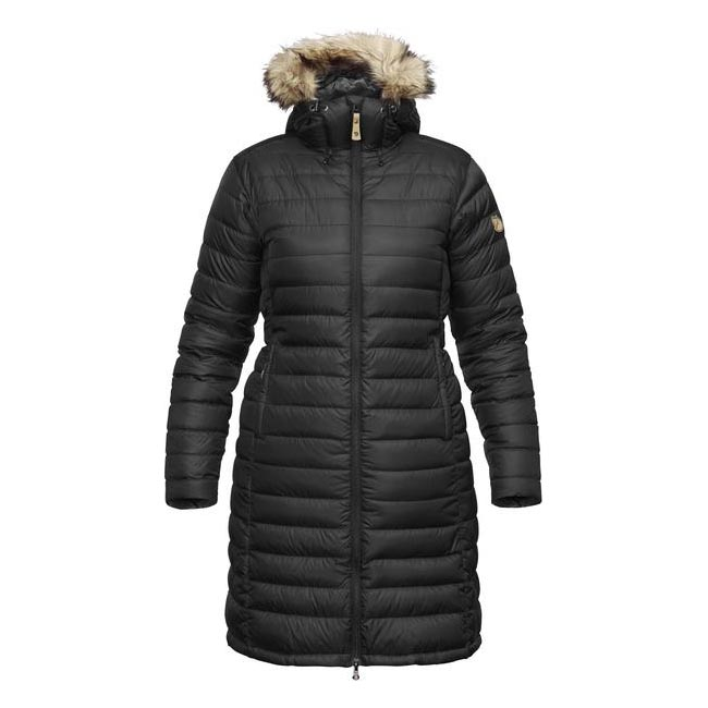 Women Fjallraven ÖVIK DOWN PARKA W BLACK  Outlet Online