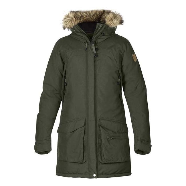 Women Fjallraven KYLA DOWN PARKA MOUNTAIN GREY  Outlet Online