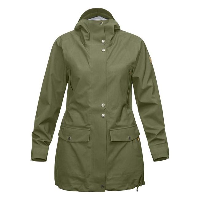 Women Fjallraven ÖVIK ECO-SHELL PARKA W GREEN Outlet Online