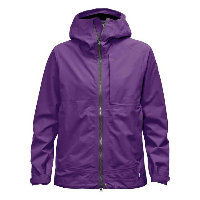 Women Fjallraven ABISKO ECO-SHELL JACKET W PURPLE  Outlet Online