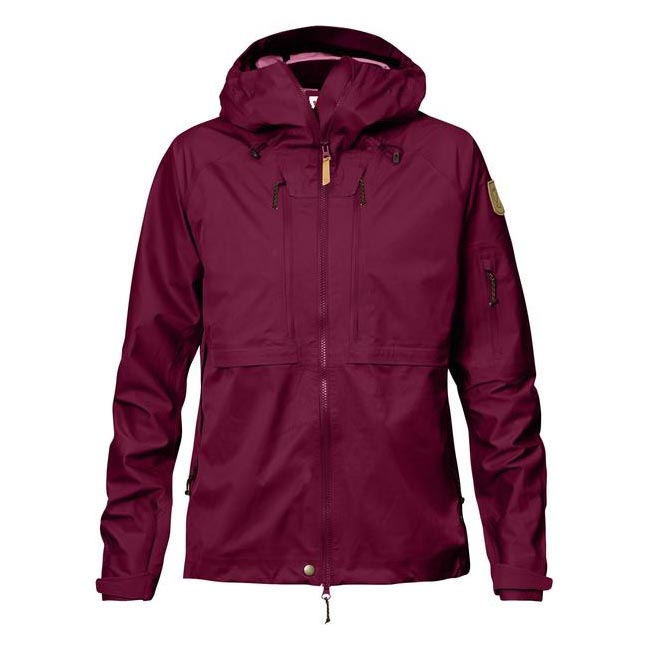 Women Fjallraven KEB ECO-SHELL JACKET W PLUM  Outlet Online
