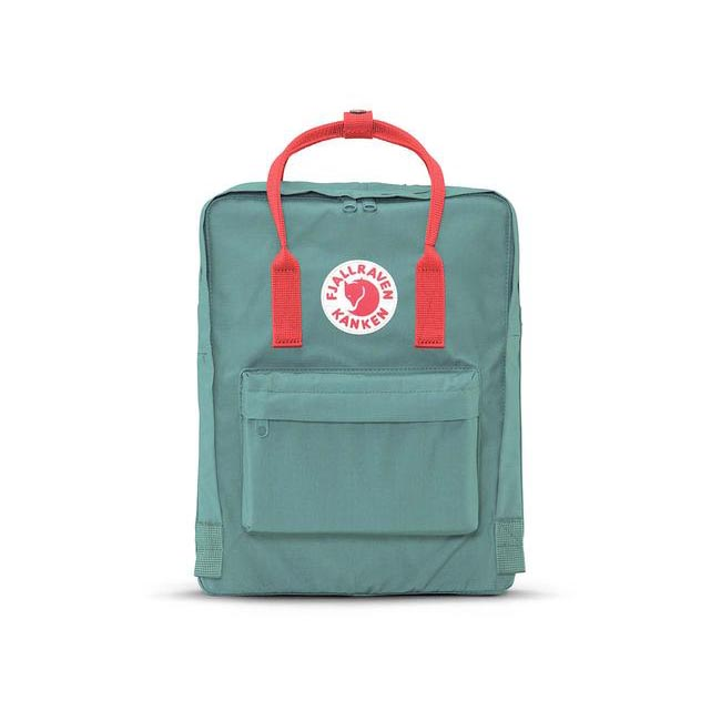 Bags Fjallraven KÅNKEN BACKPACK FROST GREEN & PEACH PINK Outlet Online