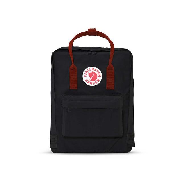Bags Fjallraven KÅNKEN BACKPACK BLACK-OX RED Outlet Online