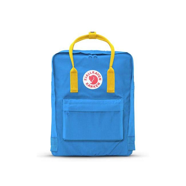 Bags Fjallraven KÅNKEN BACKPACK UN BLUE-WARM YELLOW Outlet Online
