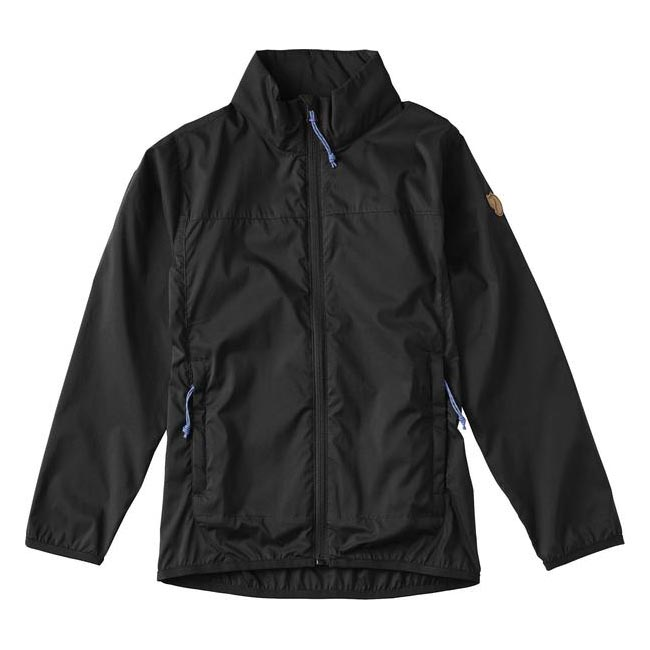Women Fjallraven KIDS ABISKO WINDBREAKER JACKET BLACK  Outlet Online