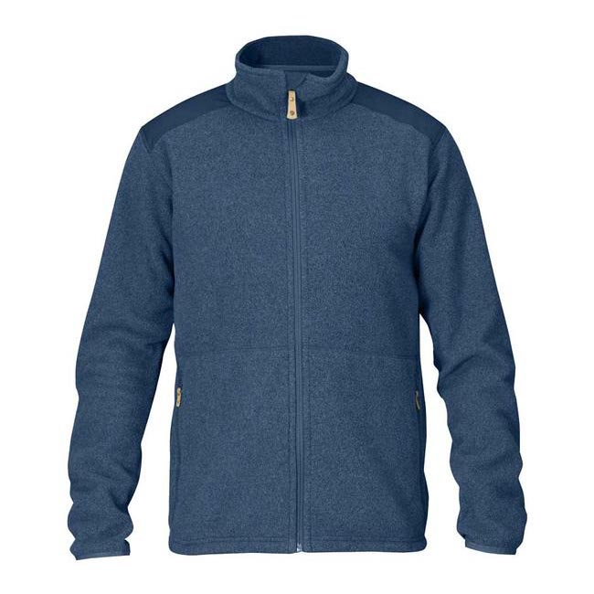 Men Fjallraven STEN FLEECE UNCLE BLUE Outlet Online