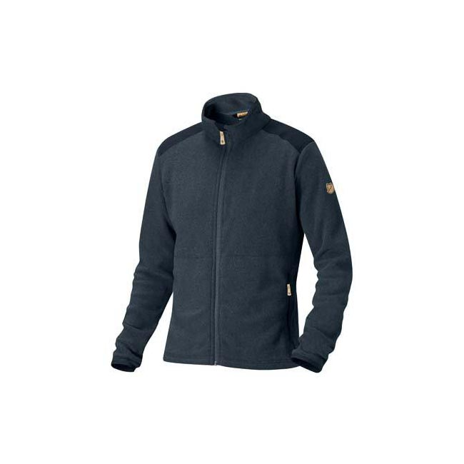 Men Fjallraven STEN FLEECE DARK NAVY Outlet Online