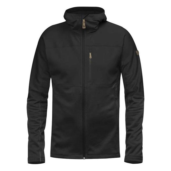 Men Fjallraven ABISKO TRAIL FLEECE BLACK Outlet Online