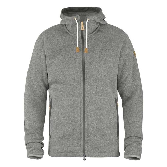 Fjallraven OVIK FLEECE HOODIE Men FOG Outlet Store