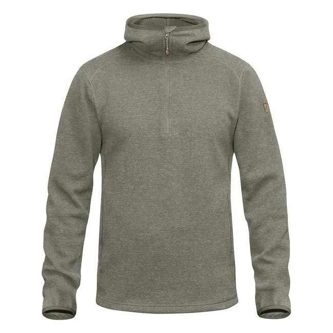 Men Fjallraven HIGH COAST WOOL HOODIE FOG Outlet Online