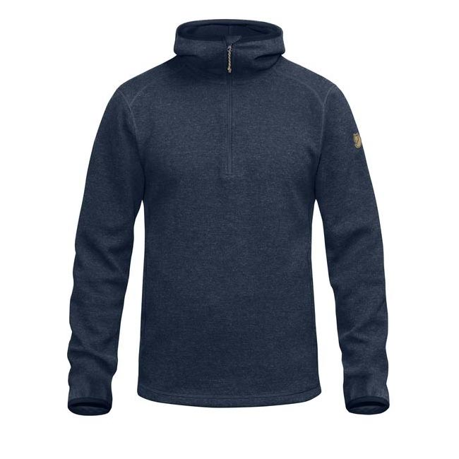 Men Fjallraven HIGH COAST WOOL HOODIE NAVY Outlet Online