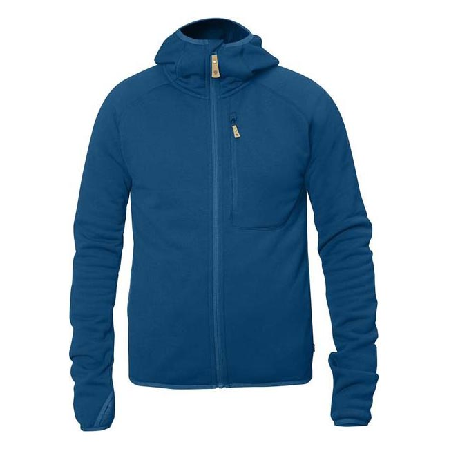 Men Fjallraven ABISKO FLEECE HOODIE LAKE BLUE Outlet Online