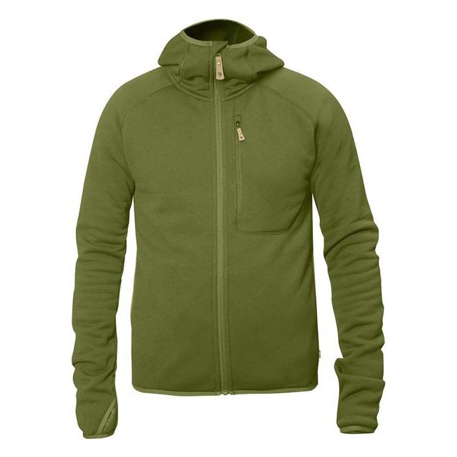 Men Fjallraven ABISKO FLEECE HOODIE AVOCADO Outlet Online