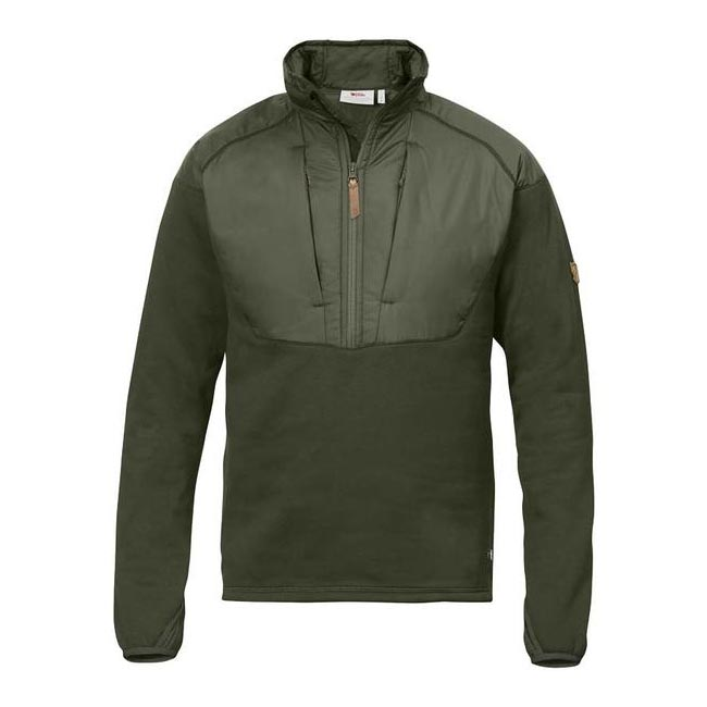 Fjallraven KEB HYBRID HALF ZIP Men OLIVE Outlet Store