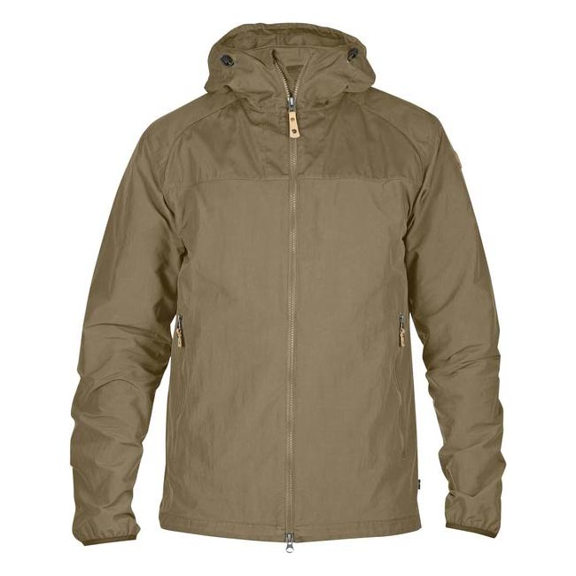 Men Fjallraven ABISKO HYBRID MEN'S JACKET SAVANNA Outlet Online