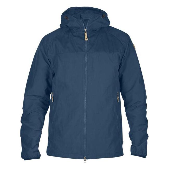 Men Fjallraven ABISKO HYBRID MEN'S JACKET UNCLE BLUE Outlet Online