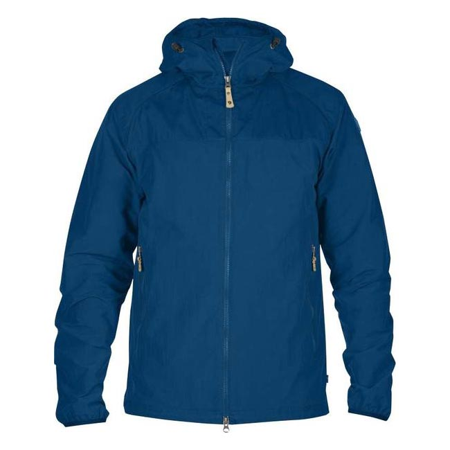 Men Fjallraven ABISKO HYBRID MEN\'S JACKET LAKE BLUE Outlet Online